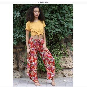 Angie wide leg tropical beautiful pants